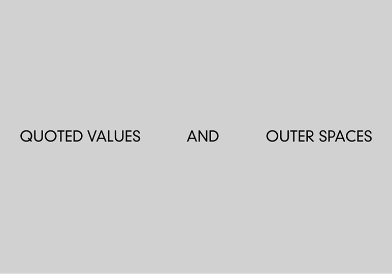 Quoted Values and Outer Spaces